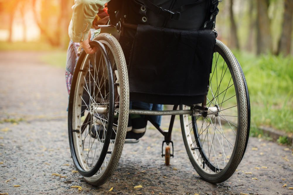 image of person in wheelchair