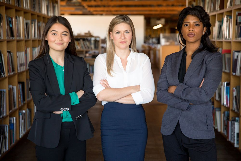 women in business clothes