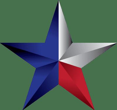texas flag within a star