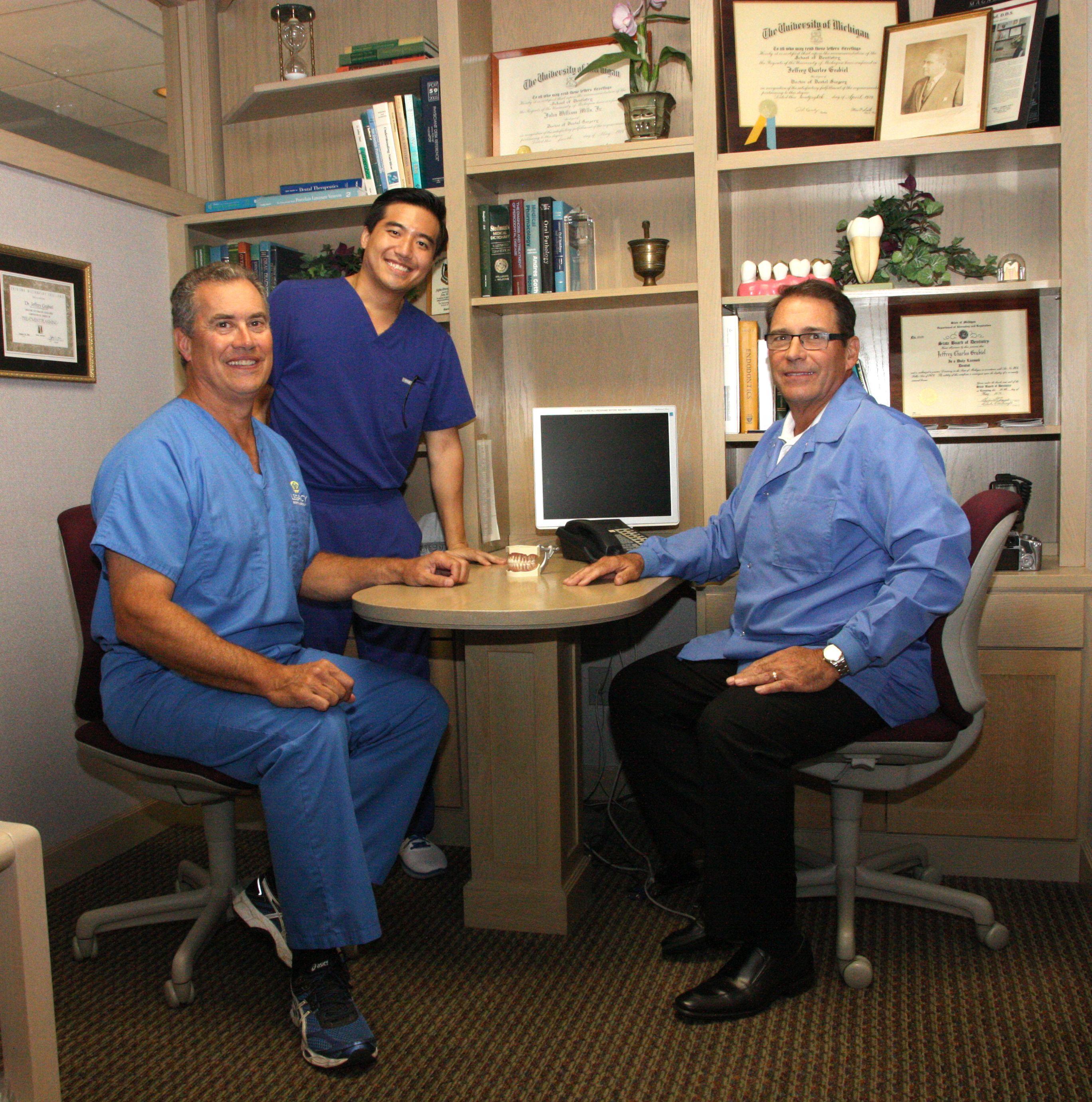 Drs. Jeffrey Grabiel, Raymond Kim, and John Mills
