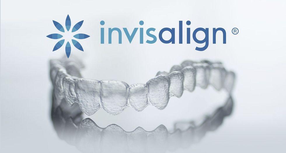 Invisalign tray and logo