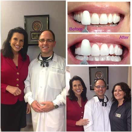 Dawn Stensland with Dr. Kaffey after her teeth whitening