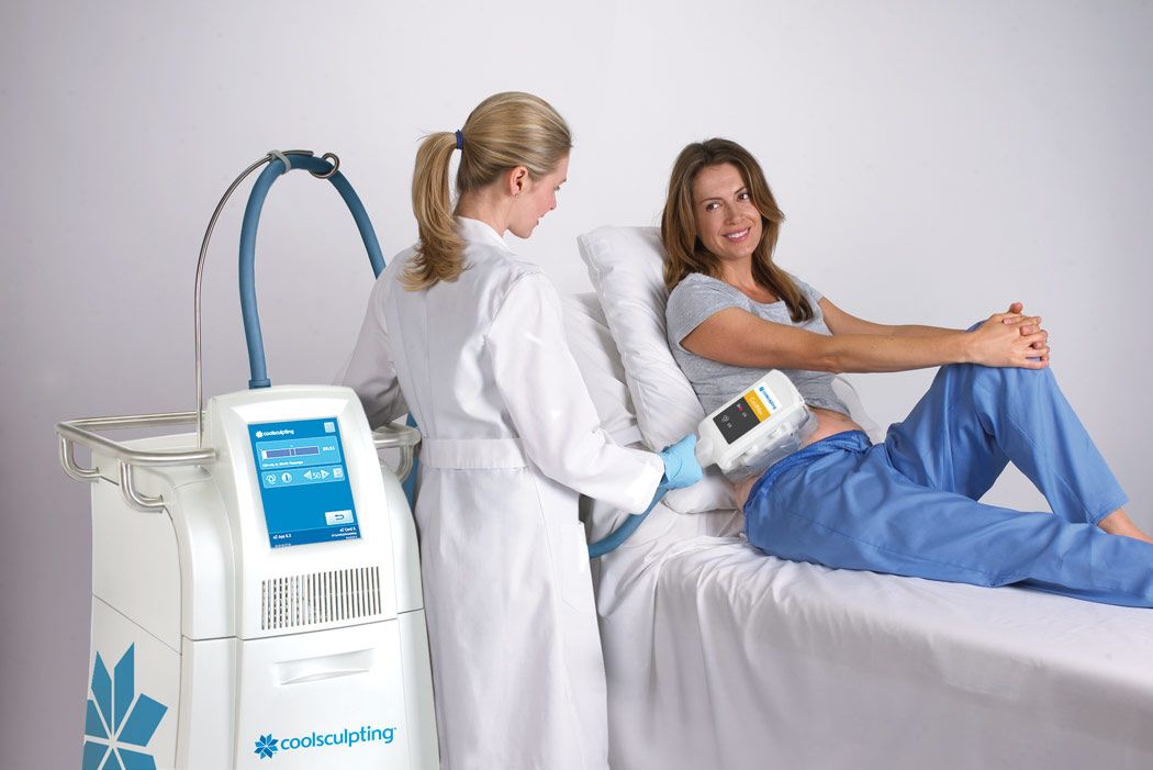 a CoolSculpting machine and procedure