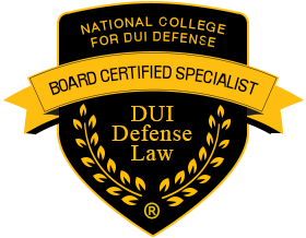 National College of DUI defense board certified specialist