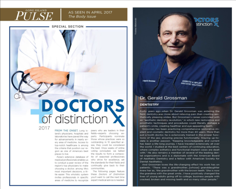 Excerpts from the Long Island Pulse Magazine article featuring Dr. Grossman.