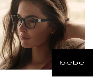Bebe eyeglass frames.