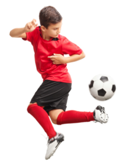 A young soccer player.