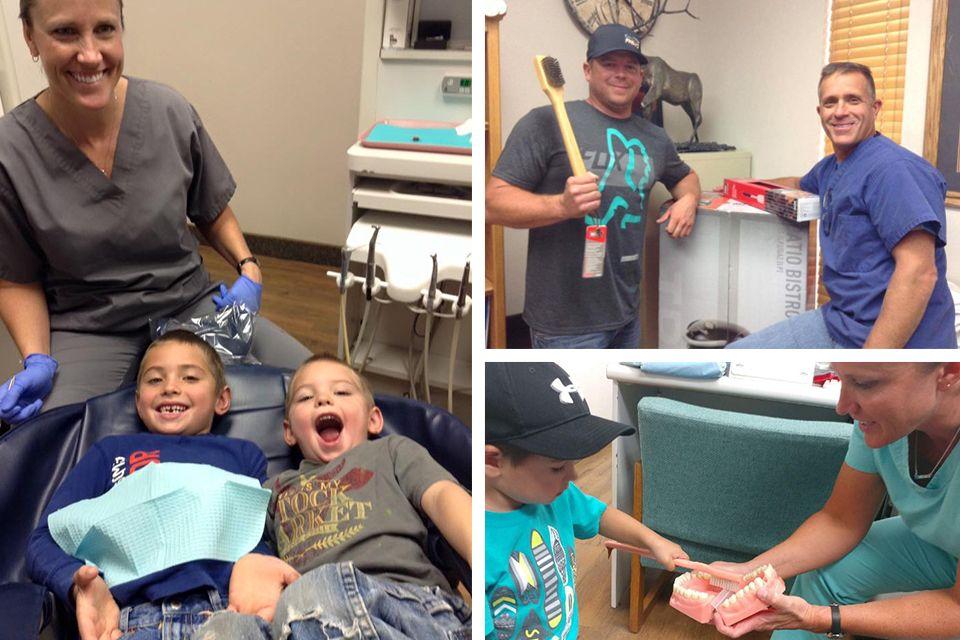 Patients and staff at Cedar City Smile in Cedar City, UT.