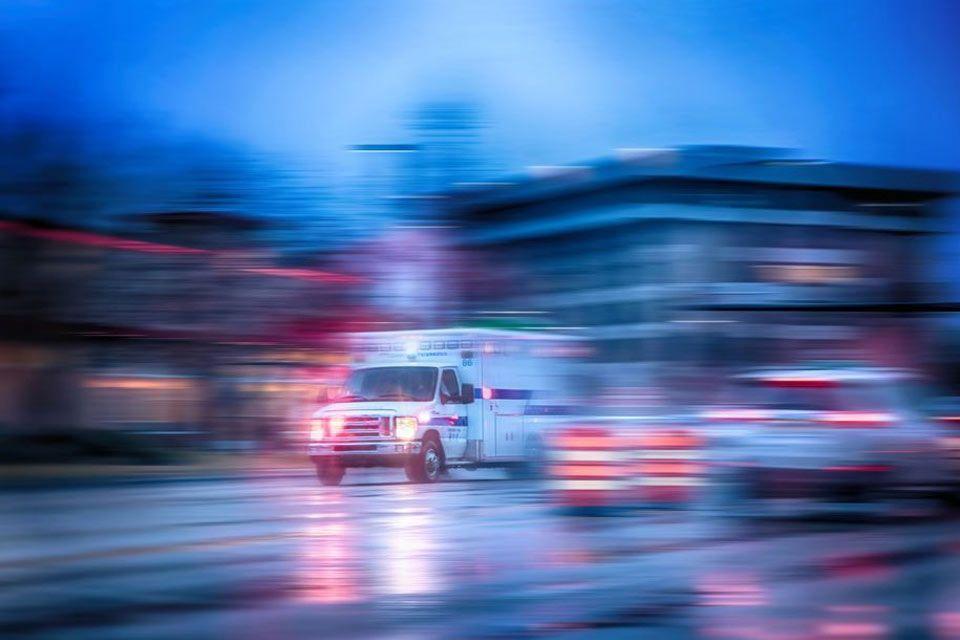 ambulance driving at high speed