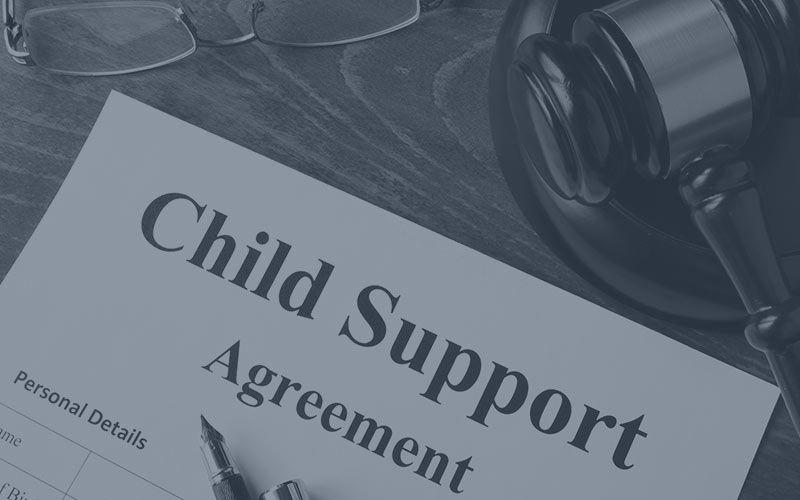 Child support agreement paperwork.