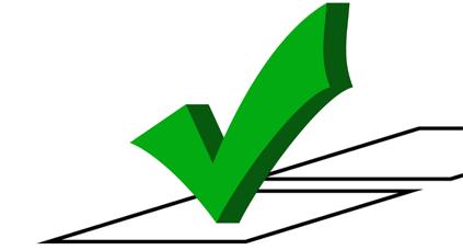 A green checkmark