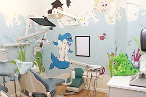 Our pediatric care room.