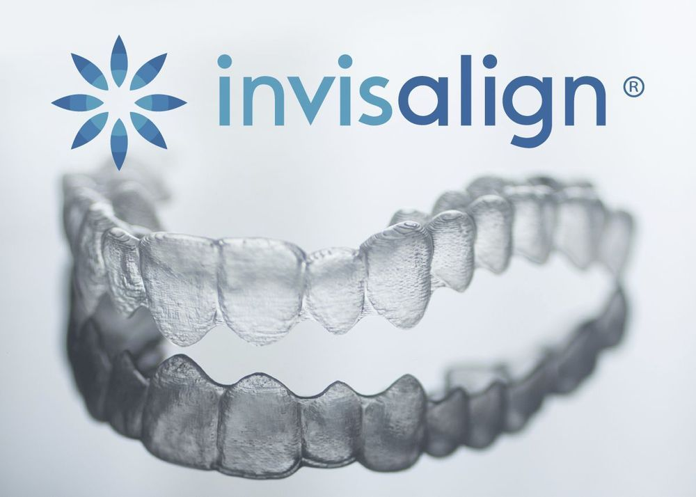 Invisalign tray and logo