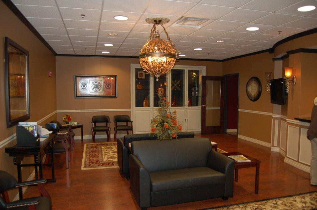 Reception area at Carlin Dental.