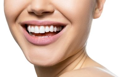 A close up of a woman's smile