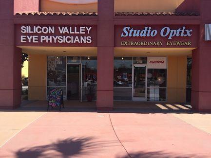 The exterior of Silicon Valley Eye Physicians in Santa Clara, CA.