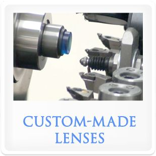 Custom-made contact lenses.
