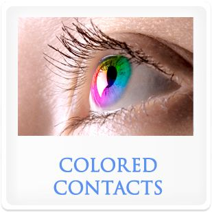 Colored contact lenses.
