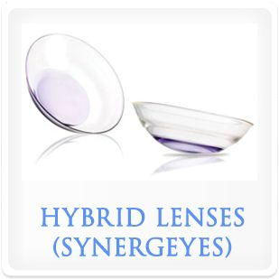 Hybrid contact lenses.