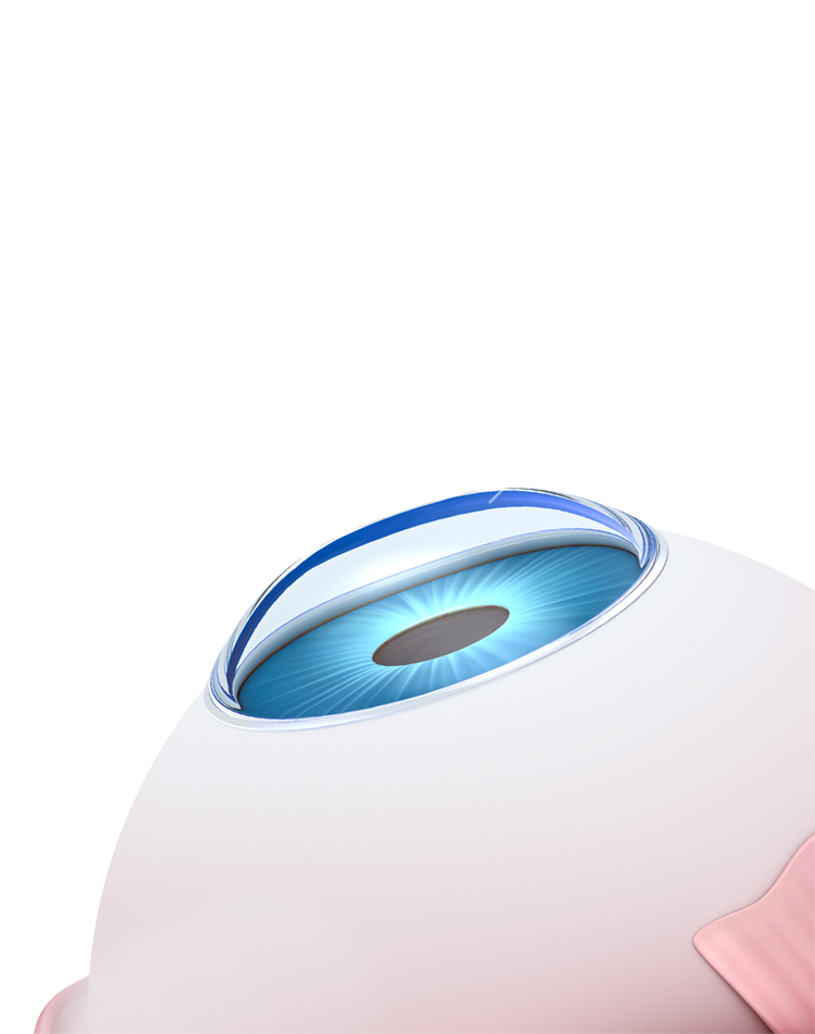 illustration of eyeball before and after PRK