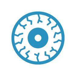 icon of a bloodshot eye