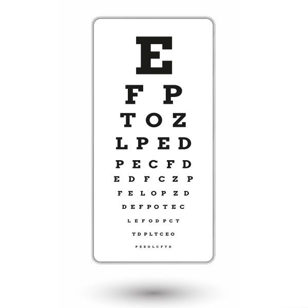 Eye chart after glasses