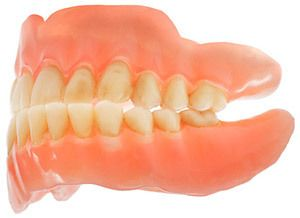 A set of traditional dentures