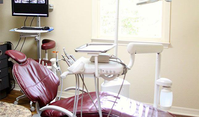 A dentist's chair.