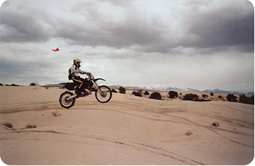 motorcycle in the desert