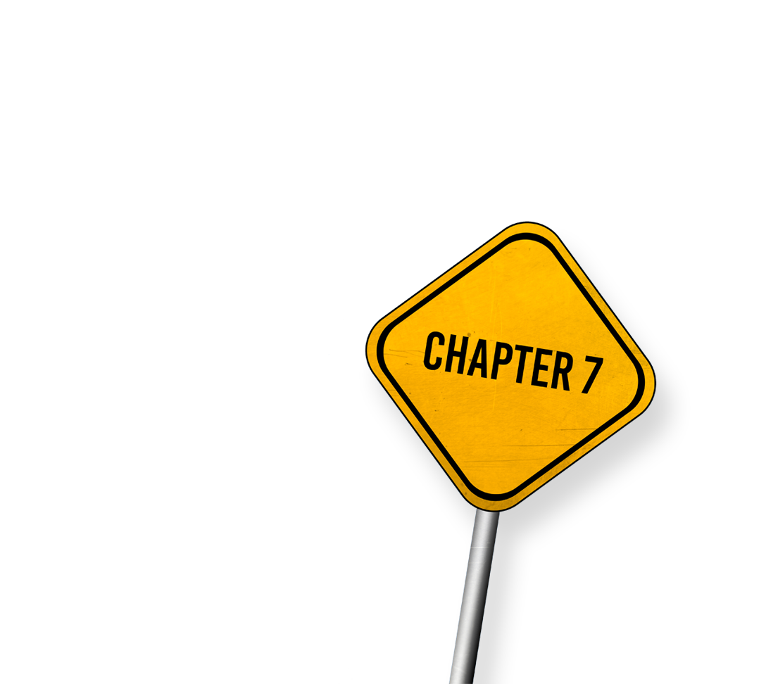 Chapter 7 road sign